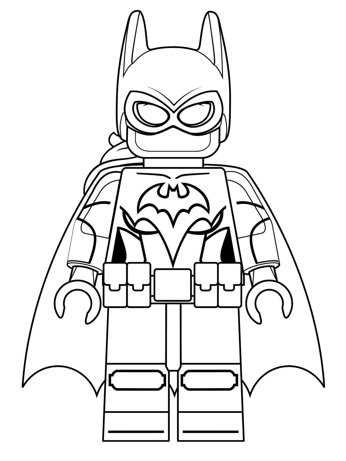 Print Free Lego Batman Coloring Pages