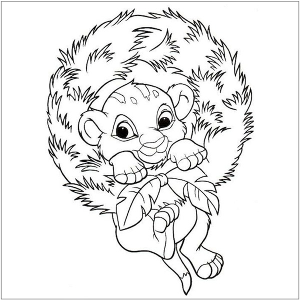Disney Christmas Coloring Pages - Best Coloring Pages For Kids