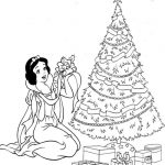 Snow White - Disney Christmas Coloring Pages