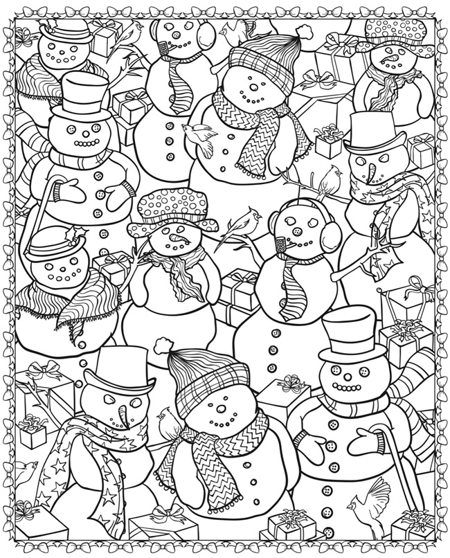 Christmas Coloring Pages For Adults.Christmas Coloring Pages For Adults Best Coloring Pages