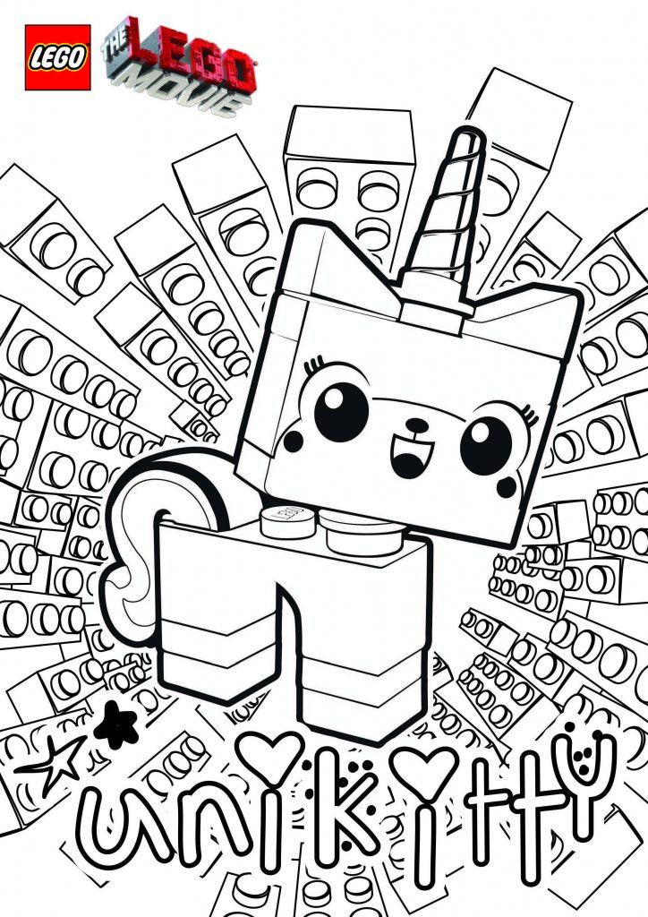 UniKitty - Lego Coloring Pages