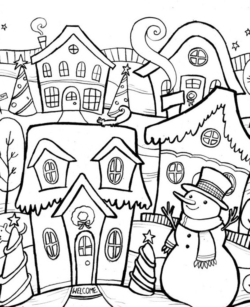 - Christmas Coloring Pages For Adults - Best Coloring Pages For Kids