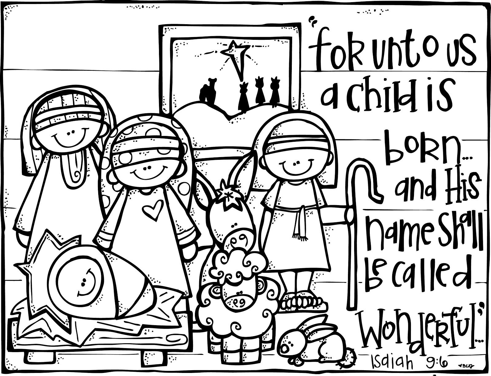 child is born christmas coloring pages for adults