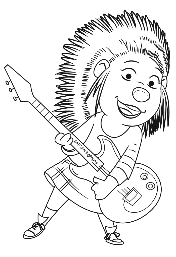 Ash - Sing Coloring Pages