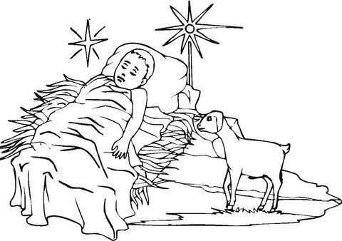 Baby Jesus Coloring Page Printable