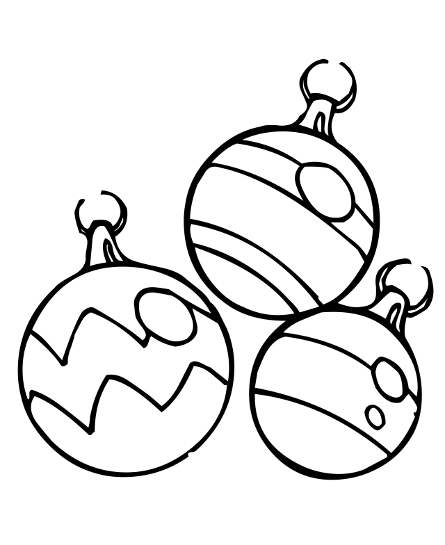 Christmas Ornaments Coloring Page Free
