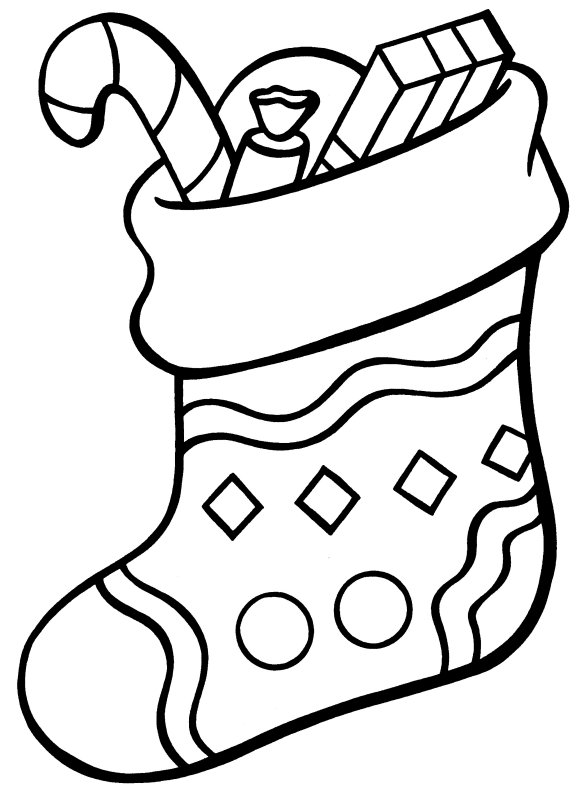 Christmas Stocking Coloring Pages Best Coloring Pages For Kids