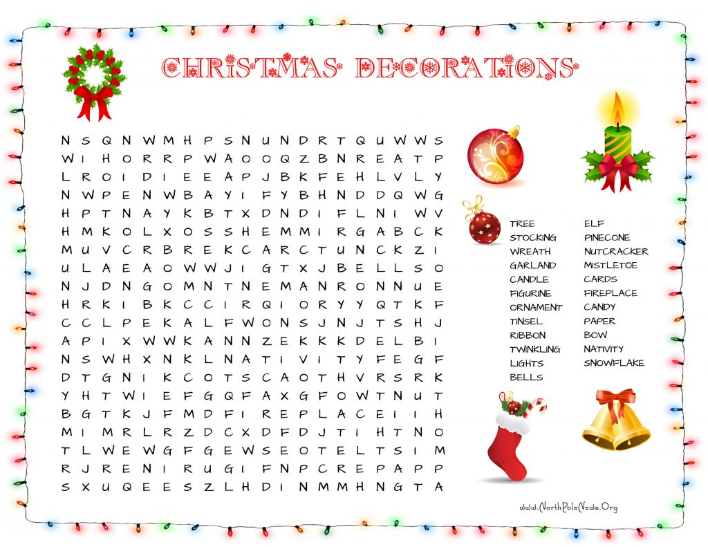 Christmas Word Search Best Coloring Pages For Kids