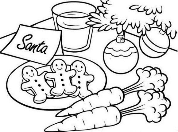 Cookies for Santa Coloring Pages