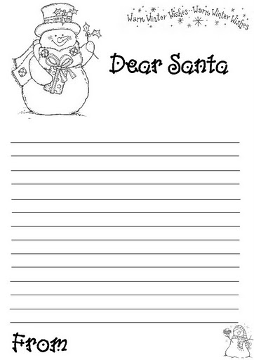 dear santa printable letter worksheet