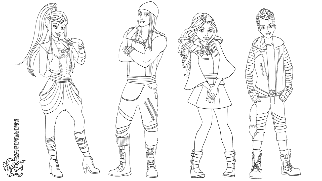 Descendants Coloring Page Printable
