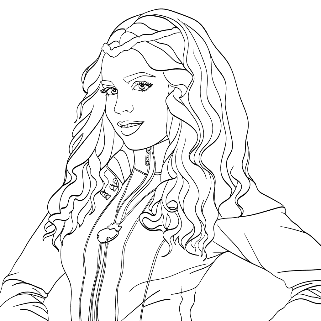 Descendants coloring pages best coloring pages for kids for Dove cameron coloring pages