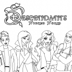 Descendants Wicked World Coloring Page