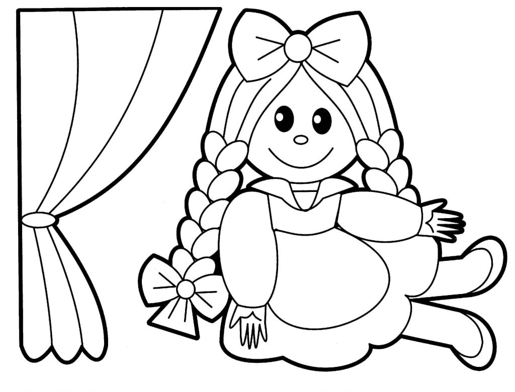 Doll Show Toy Coloring Page
