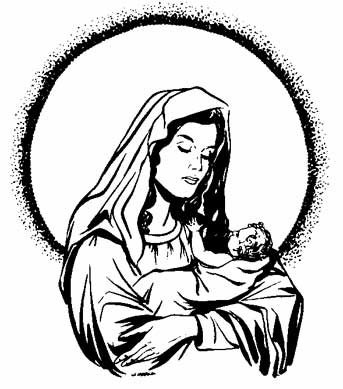 mary and baby jesus coloring pages