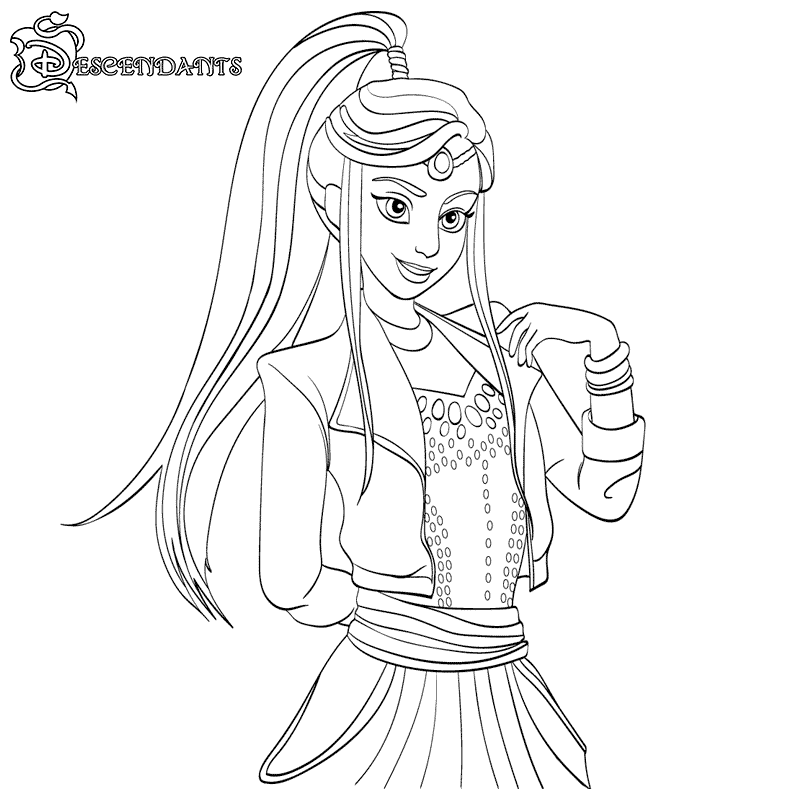 Nice Print Free Descendants Coloring Pages