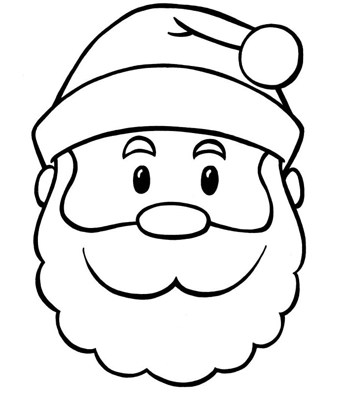 Print Santa Coloring Pages