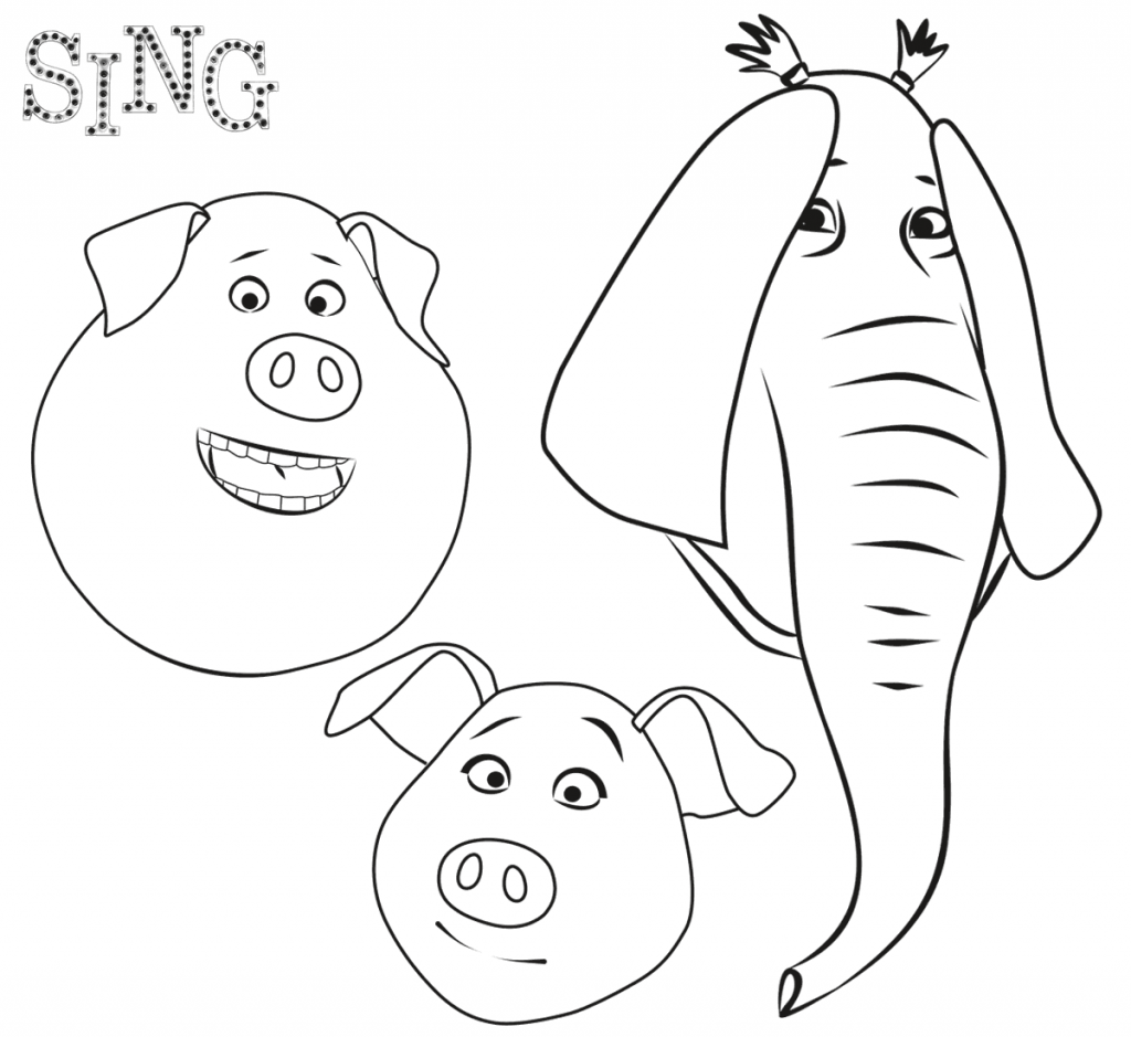 Print Sing Coloring Pages