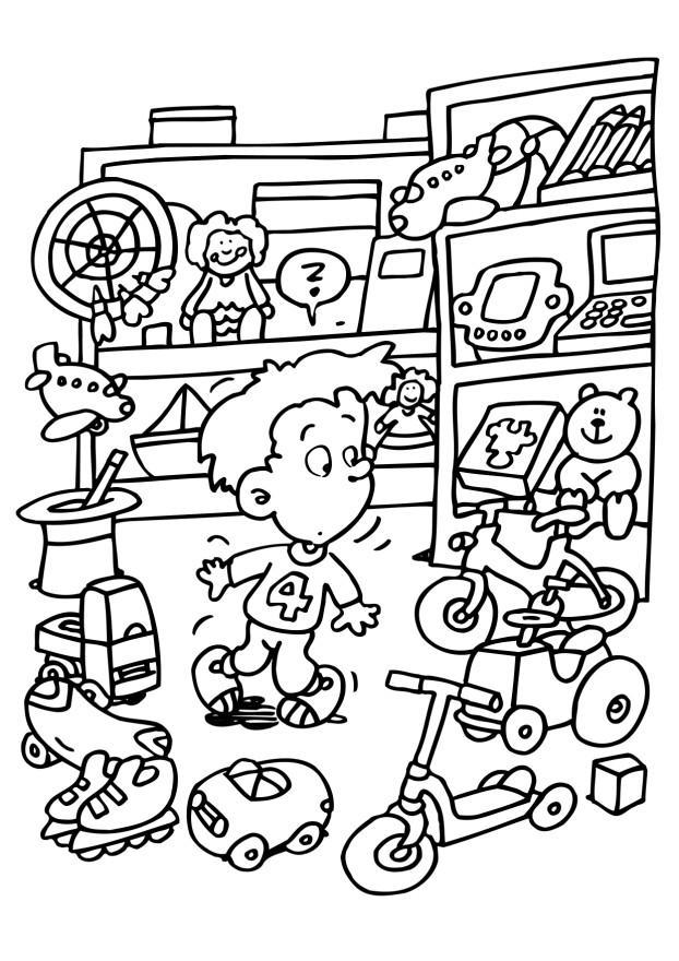 Room full of Toys Coloring Page