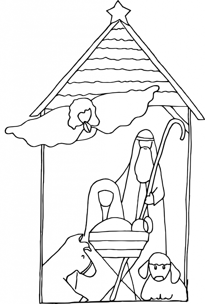 Simple Baby Jesus Coloring Pages