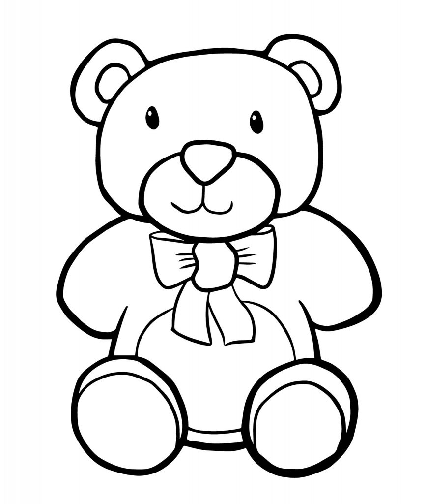 Stuffed Bear Toy Coloring Page