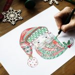 Coloring Santa for the holidays