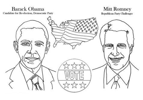 Barack Obama Coloring Pages For Kids Obama Printables Coloring ... | 333x476