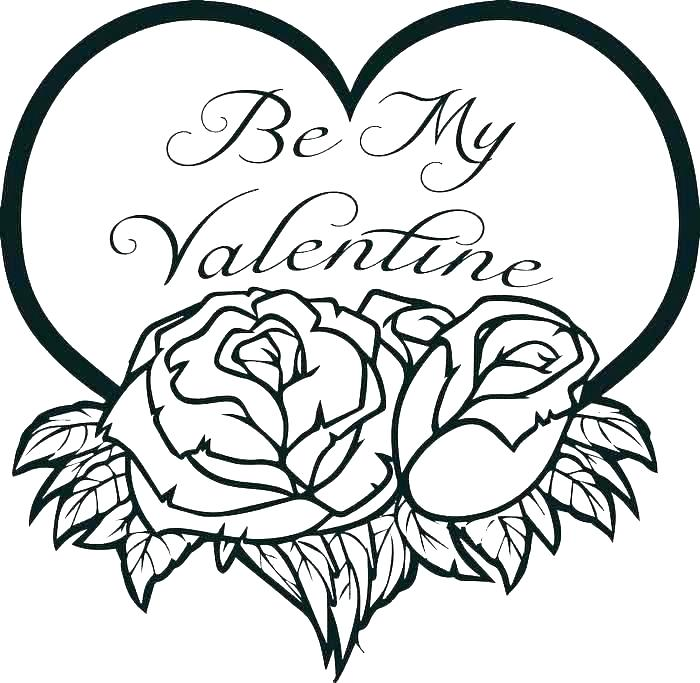 - Valentine Heart Coloring Pages - Best Coloring Pages For Kids