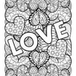 Big Love Valentines Day Coloring Pages for Adults