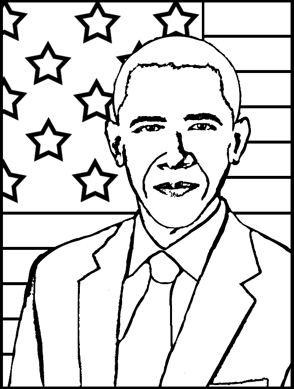 Black History Month Coloring Pages - First Black President