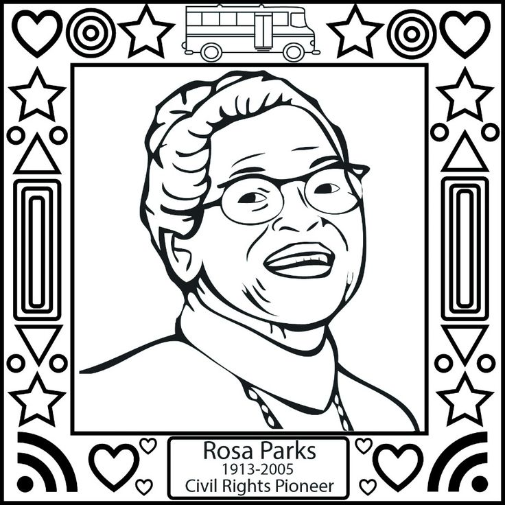 Black History Month Coloring Pages - Rosa Parks