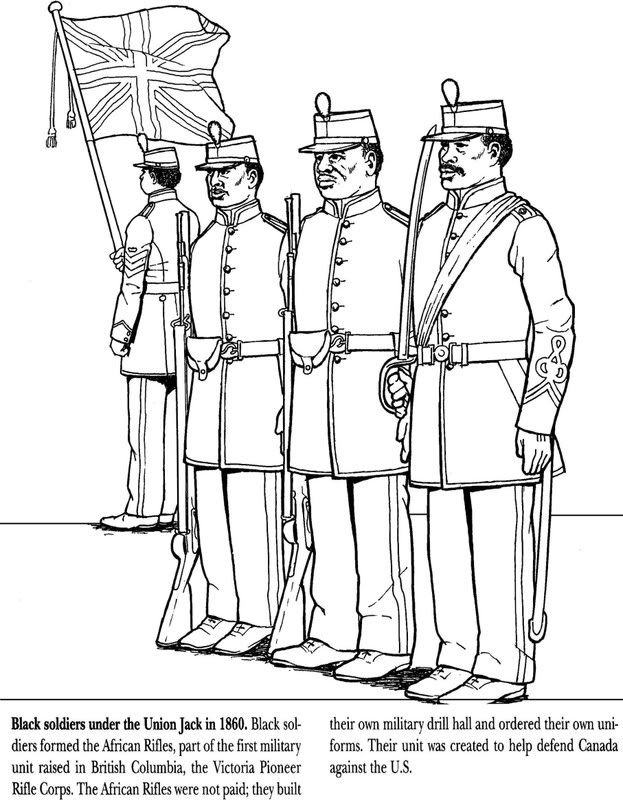 Black Soldiers 1860 Coloring Page