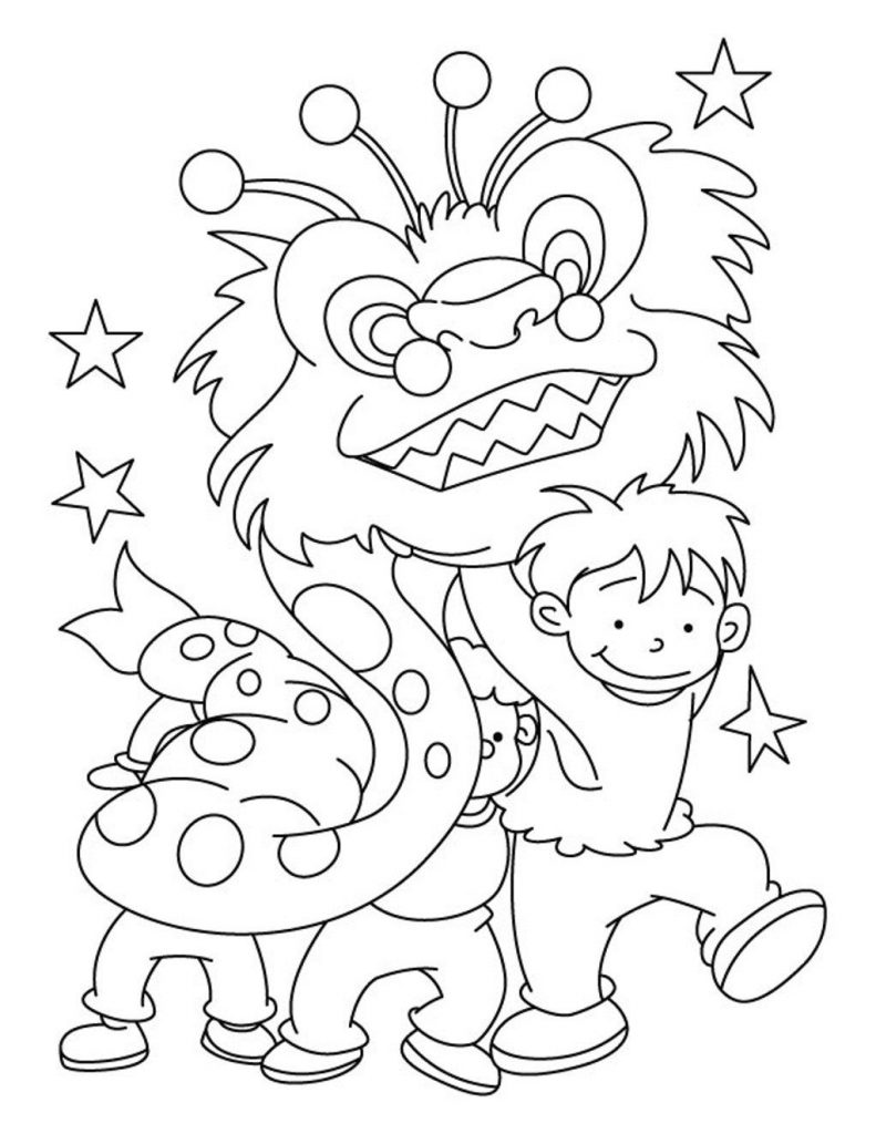 Chinese New Year Coloring Page Free