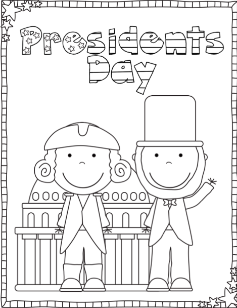 Cute Presidents Day Coloring Pages