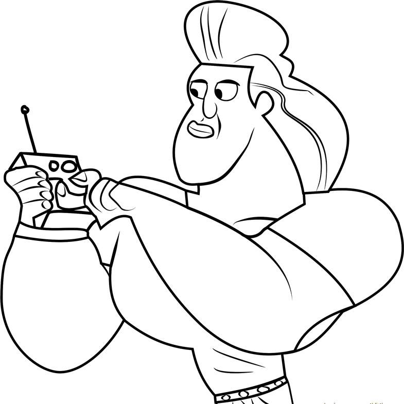 Dabio - Wild Kratts Coloring Pages