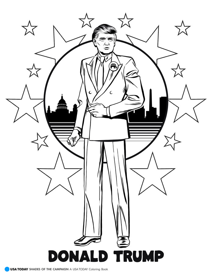 Donald Trump Campaign Coloring Page