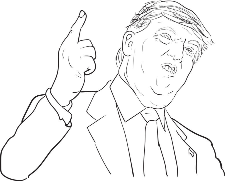 Donald Trump Coloring Pages Printable