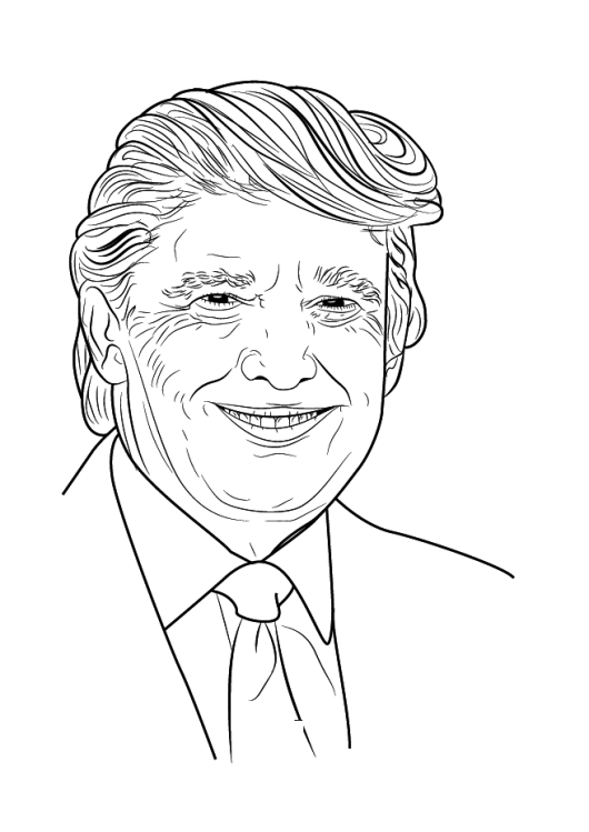 Donald Trump - Presidents Day Coloring Pages