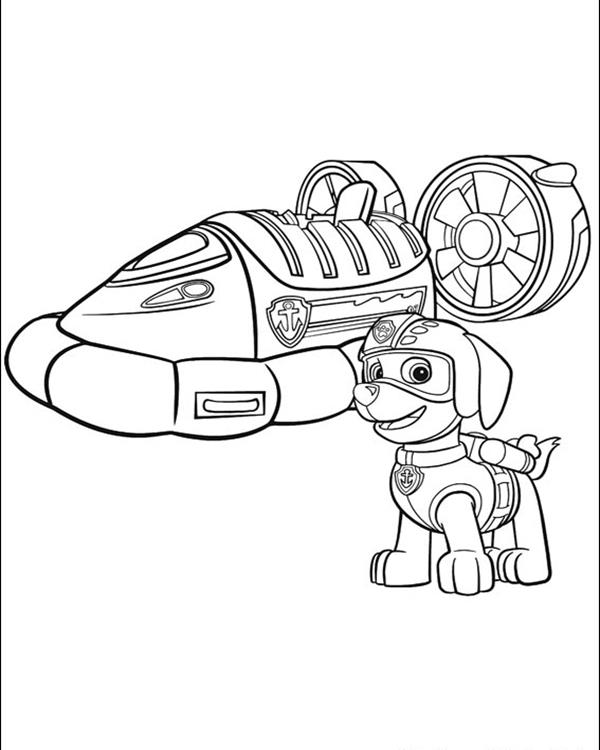 Download Paw Patrol Coloring Page