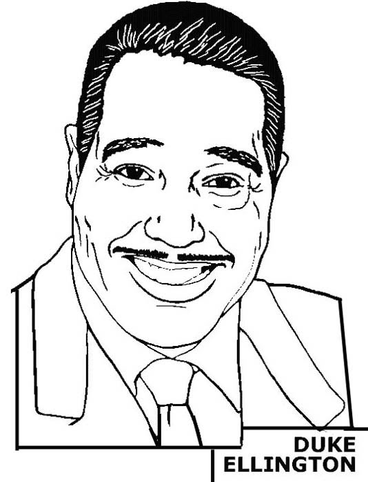 Duke Ellington Coloring Page