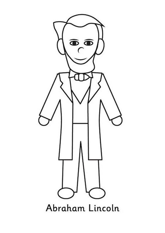 Easy Abraham Lincoln Coloring Page