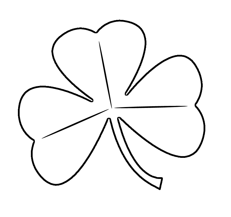 Easy Shamrock Coloring Page