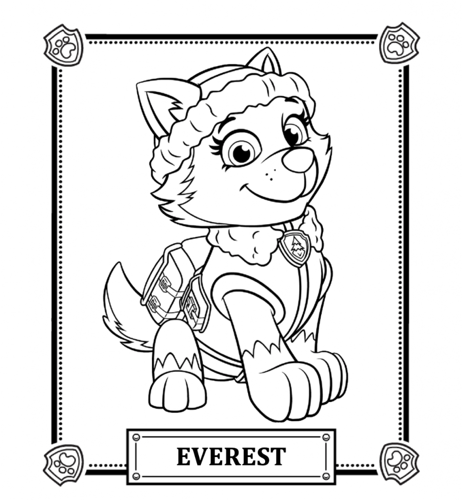 Everest - Paw Patrol Coloring Pages