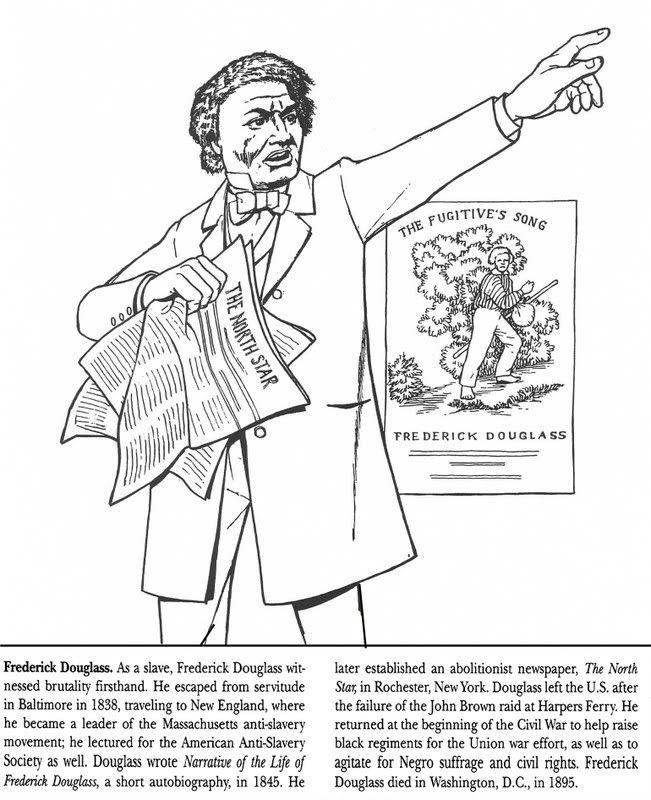Frederick Douglas Black History Month Sheet