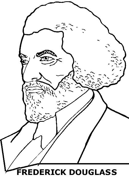 Frederick Douglass Coloring Sheet
