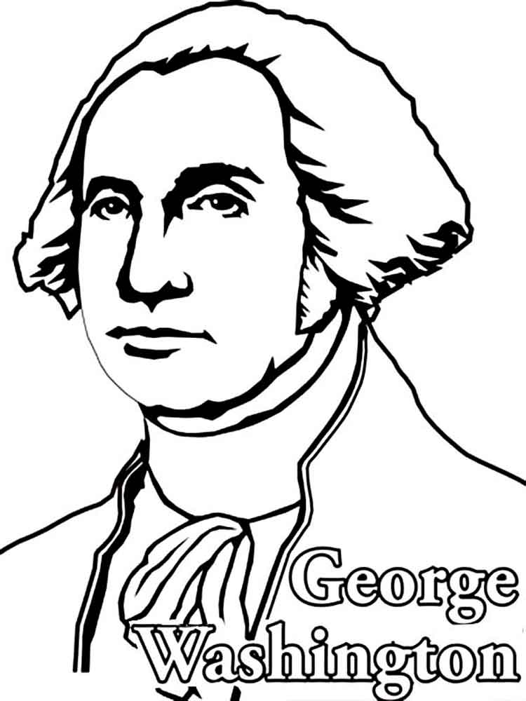 Free George Washington Coloring Page