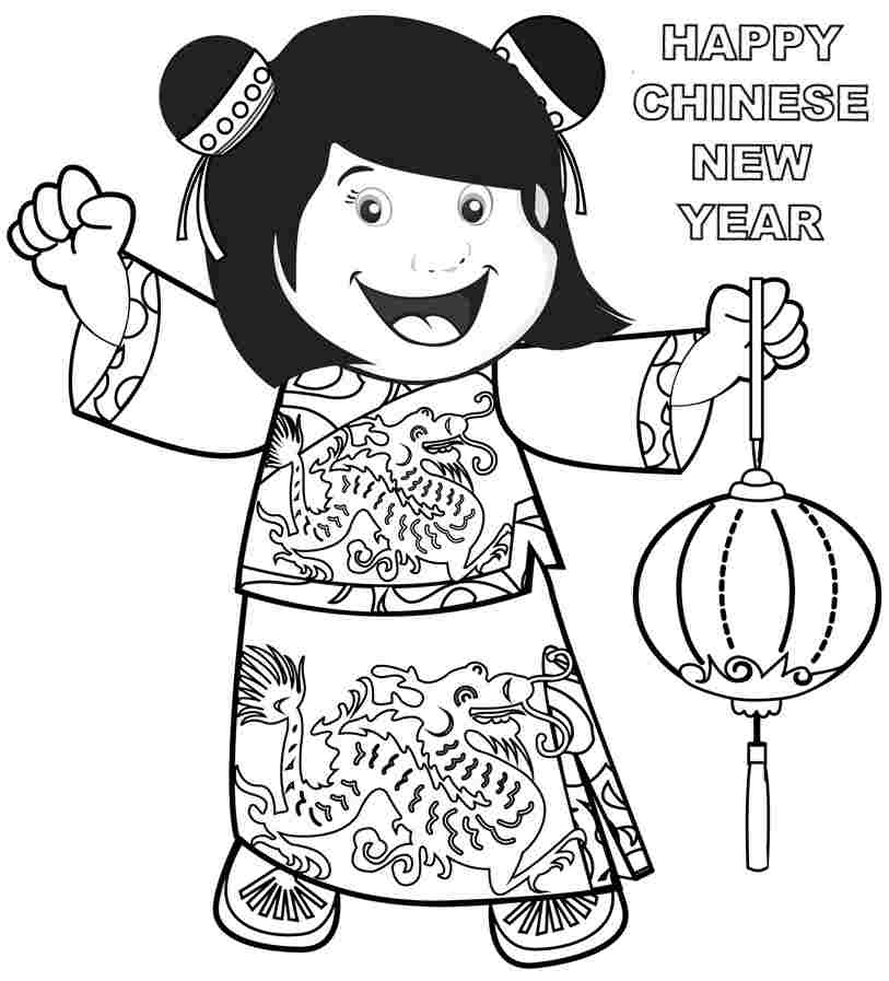 Lunar New Year Coloring Pages