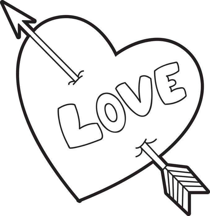 love hearts coloring pages - photo#10
