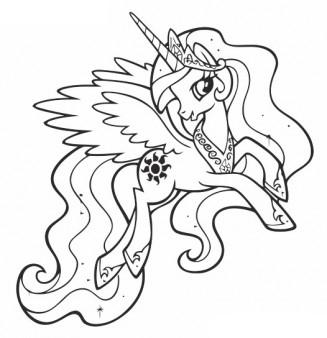 Free Princess Celestia Coloring Page