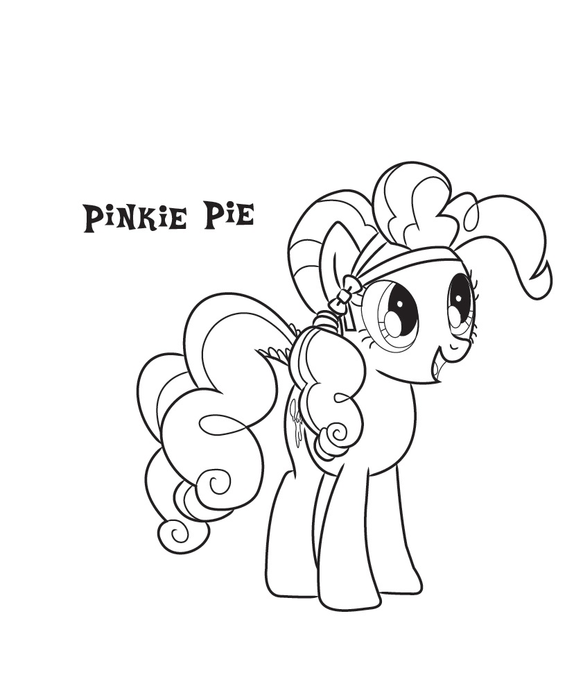 Free Printable Pinkie Pie Coloring Pages